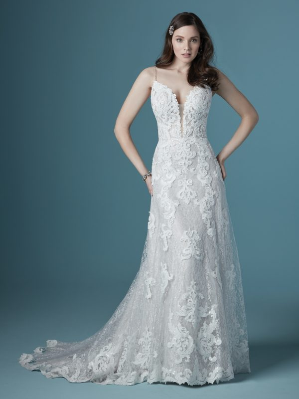 Flattering Lace A-line Wedding Dress To Show Off Your Impeccable Taste by Maggie Sottero - Image 1