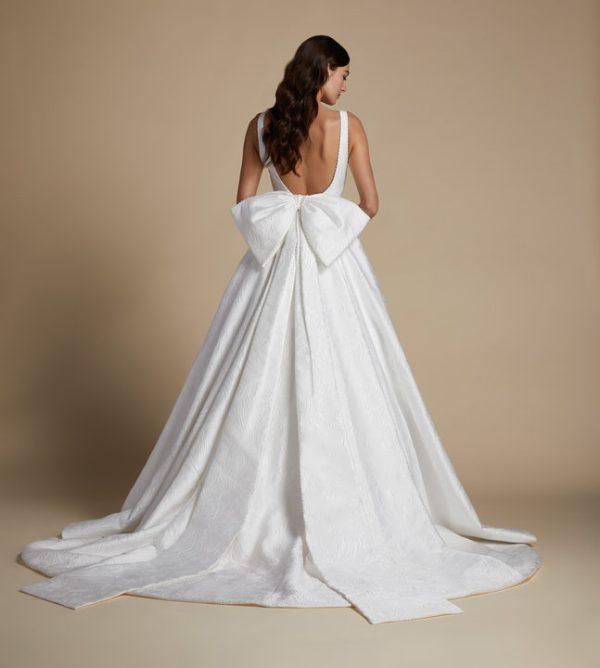 Sleeveless V-neckline A-line Wedding Dress by Allison Webb - Image 2