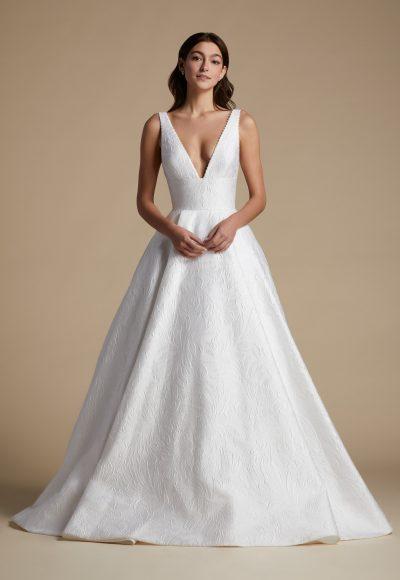 Sleeveless V-neckline A-line Wedding Dress by Allison Webb