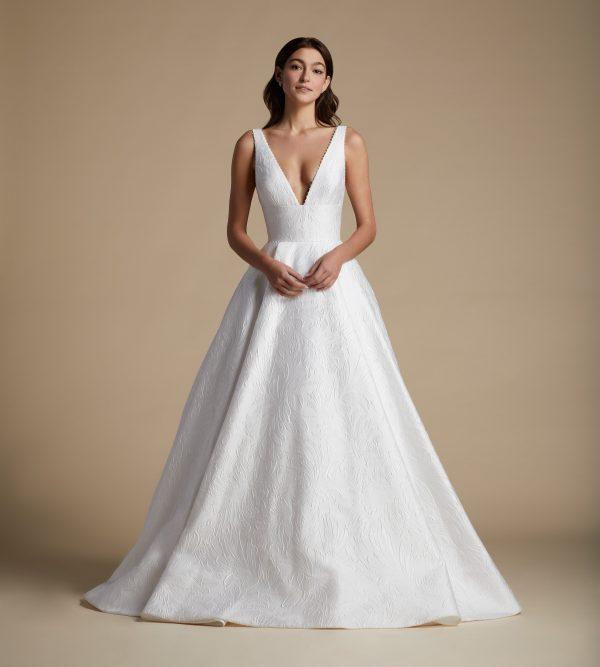 Sleeveless V-neckline A-line Wedding Dress by Allison Webb - Image 1