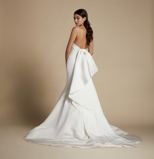 Strapless Plus Size Fit And Flare Draped Fit And Flare Wedding Dress by Allison Webb - Image 2
