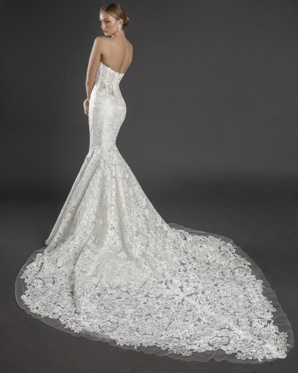 Strapless Sweetheart Neckline Lace Mermaid Wedding Dress by Love by Pnina Tornai - Image 2