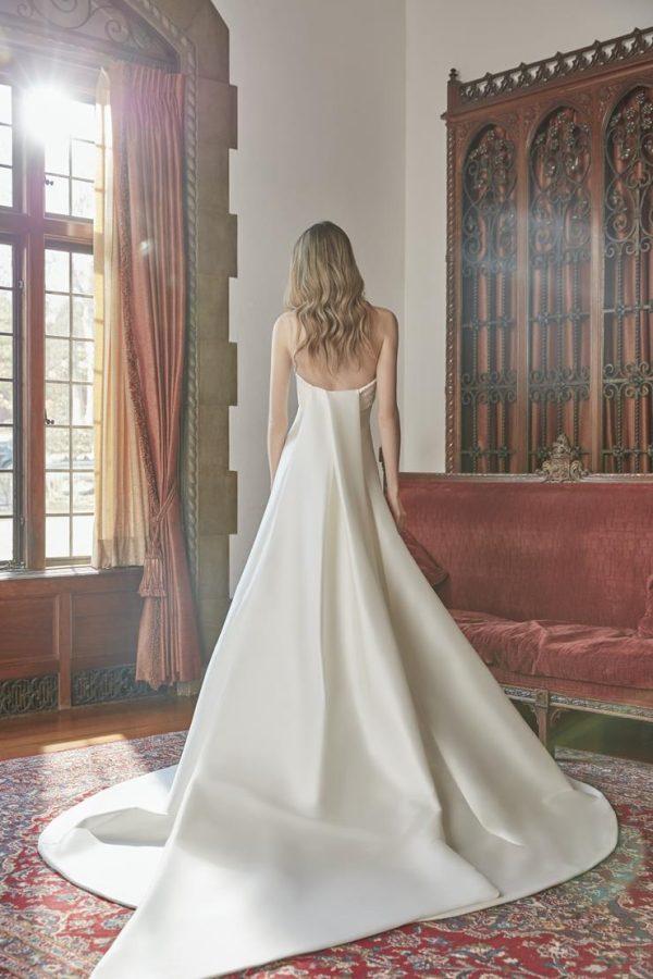 Strapless Silk A-line Wedding Dress With Beaded Collar by Sareh Nouri - Image 2