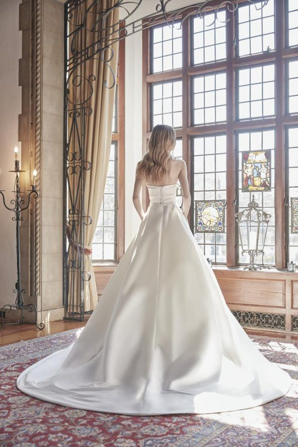 Strapless Sweetheart Neckline With Draped Bodice Ball Gown Wedding Dress by Sareh Nouri - Image 2