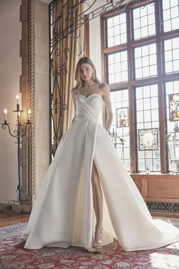 Strapless Sweetheart Neckline With Draped Bodice Ball Gown Wedding Dress by Sareh Nouri - Image 1