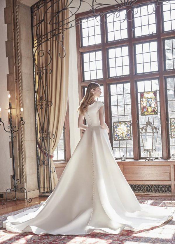 Cap Sleeve Sweetheart Neckline Ball Gown Wedding Dress by Sareh Nouri - Image 2