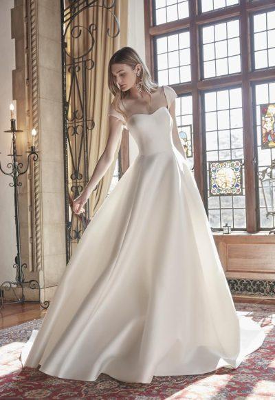 Cap Sleeve Sweetheart Neckline Ball Gown Wedding Dress by Sareh Nouri