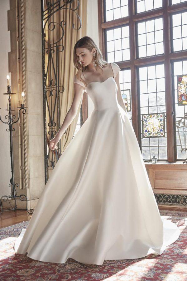 Cap Sleeve Sweetheart Neckline Ball Gown Wedding Dress by Sareh Nouri - Image 1