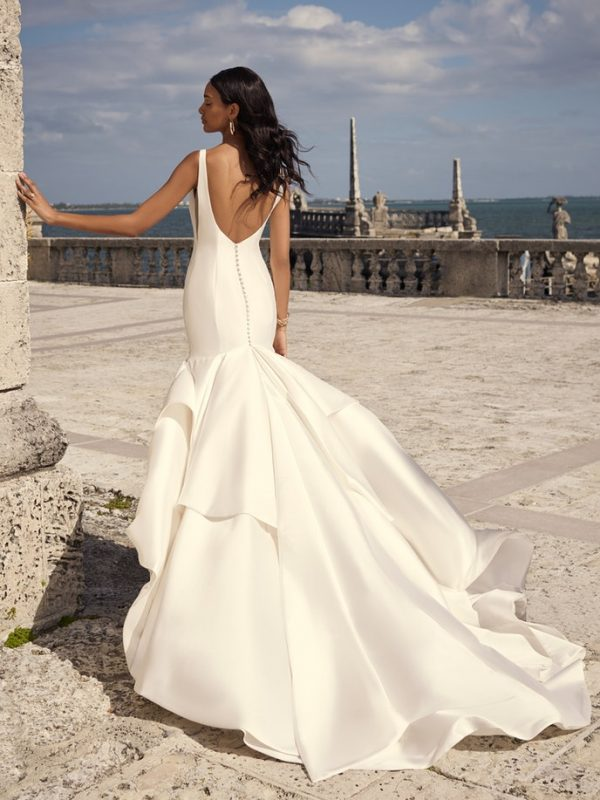 Sleeveless Satin Mermaid Wedding Dress by Maggie Sottero - Image 2