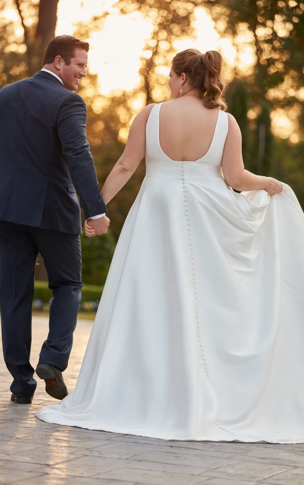 SIMPLE PLUS-SIZE BALL GOWN WEDDING DRESS by Stella York - Image 2