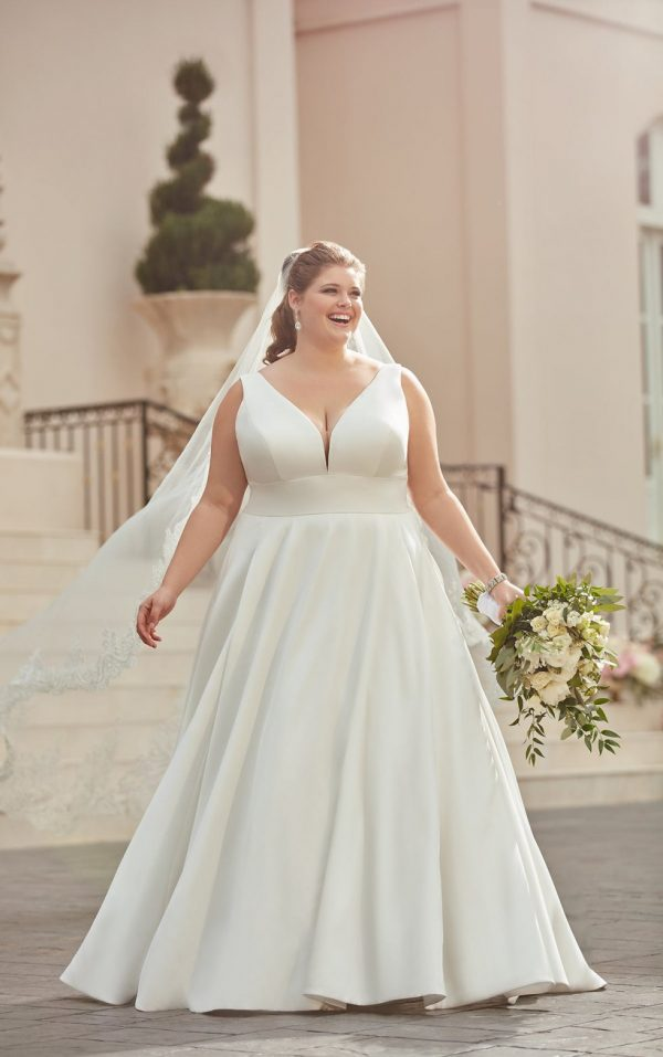 SIMPLE PLUS-SIZE BALL GOWN WEDDING DRESS by Stella York - Image 1